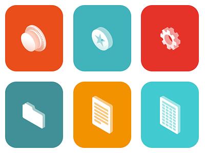app icons icons tresor favorites settings folder word doc xls isometric ios