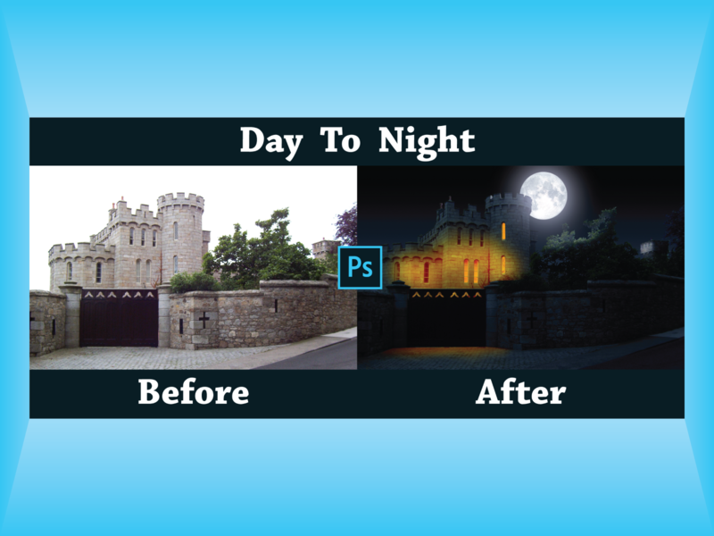 Photoshop Day to Night Conversion photo edit image editing service image editing photoshop editing adobe photoshop cc adobe photoshop photoshop