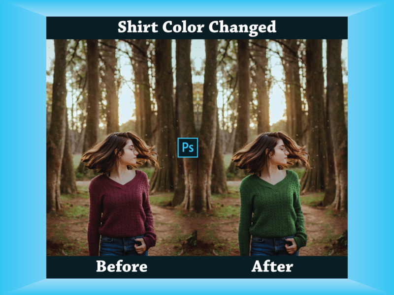 Photoshop Shirt Color Changed color change photo editing image editing adobe photoshop cc adobe photoshop photoshop