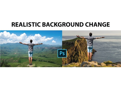 Photoshop Realistic Background Changed graphic design illusrator background removal photo editing services photo editing photoeditor photoshop