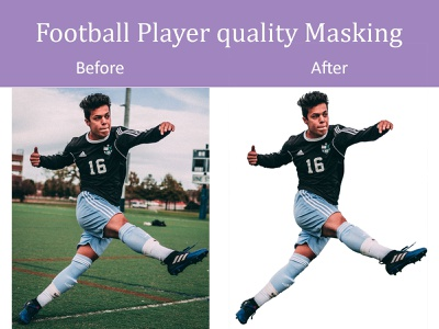 Football Player Quality Masking clipping path background removal masking illustrator photoshop
