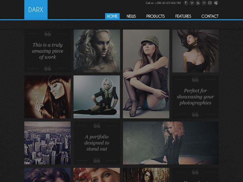 Dark Fashion Template fashion template psd template dark photography minimal minimalistic