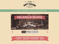 Dirty Saloon - A Cowboy One Page Wordpress Theme