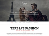 A Blog One Page Template