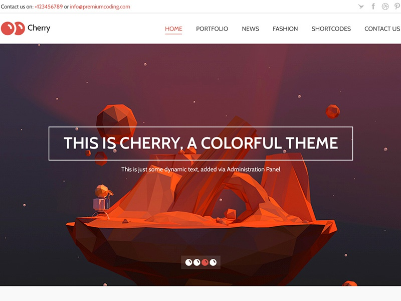 Cherry - Work in progress template psd template illustration illustrations colorful cheery cherry modern flat flat design web design
