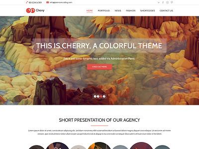 Cherry - Latest version template psd template illustration illustrations colorful cheery cherry modern flat flat design web design
