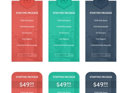 Various Sets of Pricing Tables price tables pricing tables ui button flat modern flat pricing table table flat table pricing system
