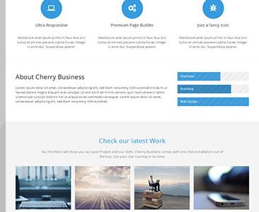 Cherry - Multipurpose Wordpress Theme wordpress wordpress theme portfolio portfolio page blue light white light portfolio blue portfolio clean grid