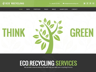 Ecorecycling Wordpress Theme  alternative bio business corporate eco ecology ecommerce energy green