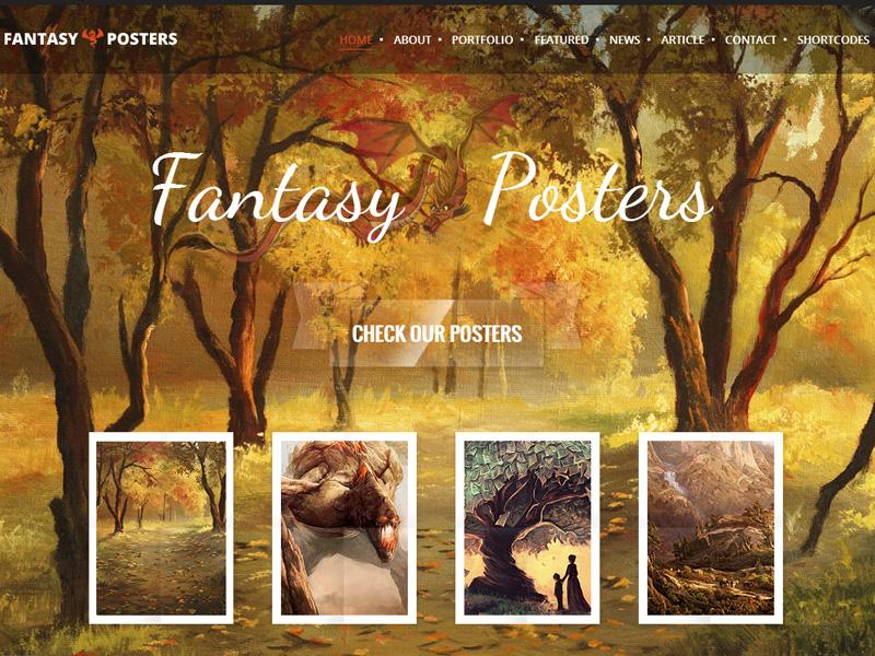 Fantasy Posters Wordpress Theme fantasy game gaming fantasy wordpress theme