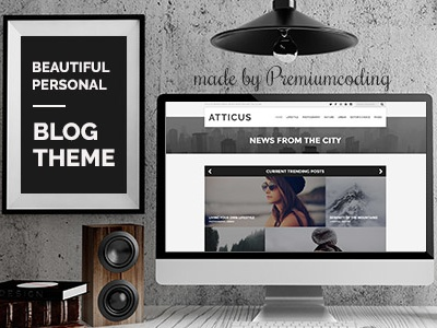 Atticus - Minimal & Personal WordPress Blog Theme blog blog theme clean creative hipster hipster blog minimal minimal blog minimal portfolio personal