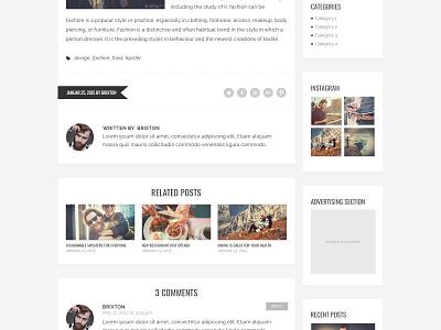 Brixton PSD Template web design flat design flat modern colorful psd template blog template