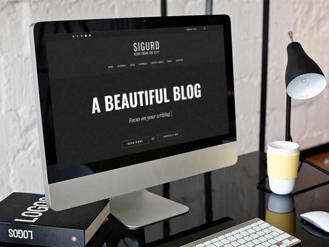 Sigurd Wordpress Blog Theme For Writers blog theme creative minimal flat blog wordpress theme portfolio modern design template wordpress