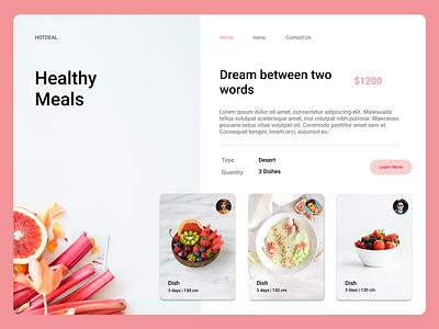 Healthy Meals Site ui design