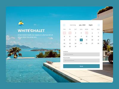 White Chalet  Landing Page design ui