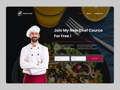 Master Chef Landing Page design ui