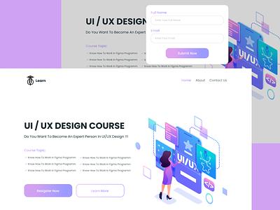 UI/UX Design Course Landing Page ui design
