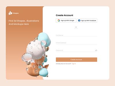 Sign Up Page ui design
