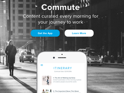 Commute: Landing Page - Daily UI Day 3