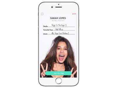Namaste: Yoga App Concept -- Profile Photo (Daily UI 006) mobile ios ux