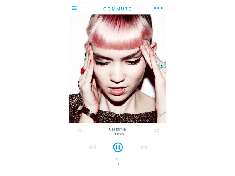 """A Tribute to Grimes"" Daily UI 009: Music Player ui ios music"