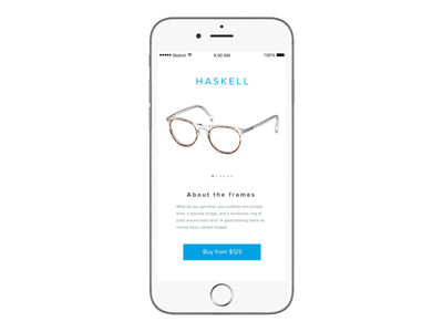 """""""If Warby Parker Had A Mobile App"""" - Daily UI 012 ux ui ios mobile app"""