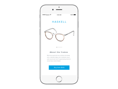 """""""If Warby Parker Had A Mobile App"""" - Daily UI 012"""