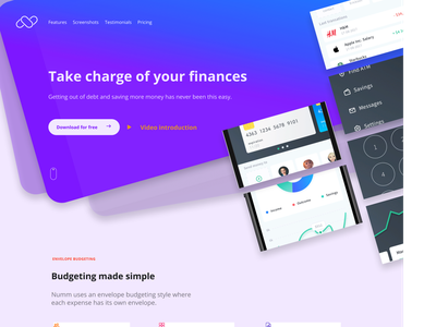 Landing page design webdesign typography uxdesign uidesign ui design app design