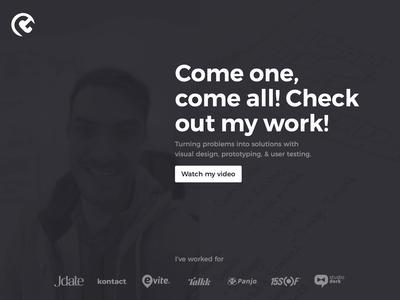 Website hero and video design web design design css layout ux ui