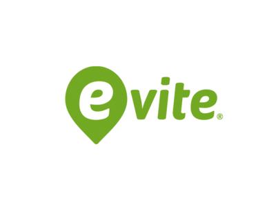 Evite Logo Design branding green logo logo party location party location invitation typography