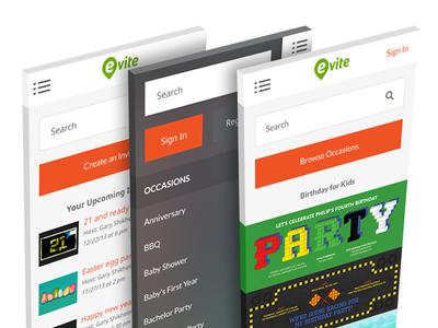 Evite Mobile Web Design mobile iphone web mobile web evite phone responsive