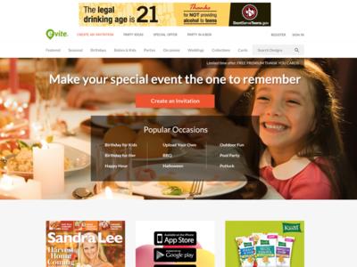 Thanksgiving homepage ui ux site homepage landing page thanksgiving large image hero