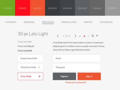 Ui Style Kit ui ux button form icon color scheme type text size