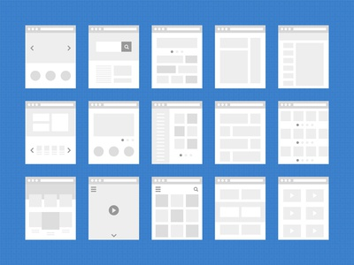 Layouts site thumbnail icon window web wireframes
