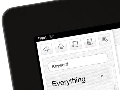 iPad Icons/UI Design ipad icons ui ux layout search grey simple iconography