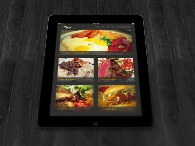 iPad Reader ipad apple ui ux blog images food tablet app html5 css