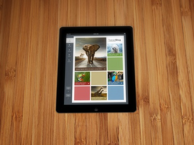 Tablet Blog Reader ui ux blog reader animals tablet design ipad boxes layout
