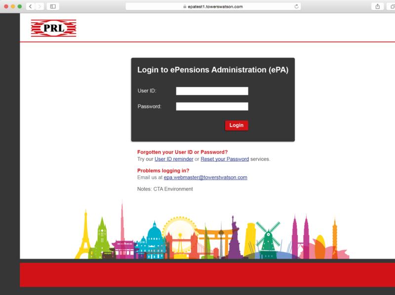 Branded pension site branding web
