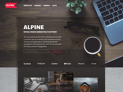 Alpine vector logo ui ux design photoshop branding illustration graphic design figma alpine