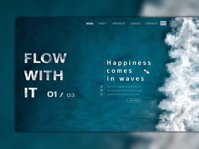 Flow Ocean flow ocean figma design ui ux photoshop graphic design