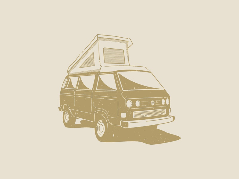 VW Westfalia Syncro vintage distressedunrest westfalia syncro vw bus vw distressed design graphic  design branding drawing vector illustration