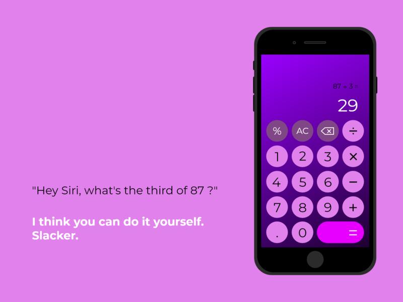 DailyUI challenge 04 | Calculator