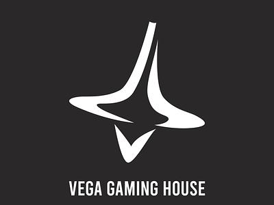 Vega Gaming House   Dribble app vector illustrator minimal circles typography logo icon design branding
