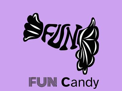 Fun Candy sweet purple drugs logo design funny candy fun