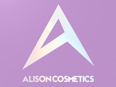 Alison Cosmetics logocore icon minimal typography logo branding design