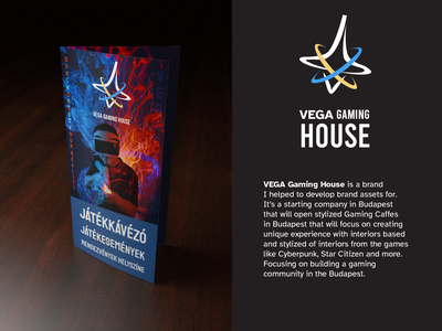 Vega Gaming House - Mock up Leaflet minimal design branding company budapest leaflet design vega