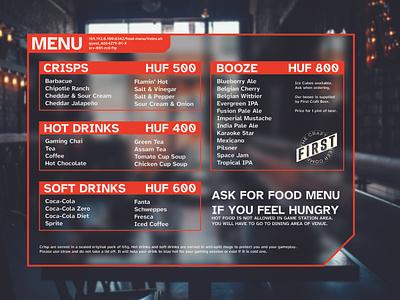 A transparent paper snacks menu transparent menu card ui minimal design