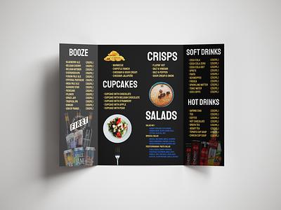 Gate Folded Food Menu menu card minimal design branding