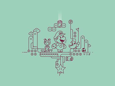 Mario mario game design design iconography icon digital art graphic design typography vector illustration brand game art