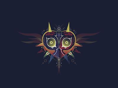 Majoras Mask typography graphic design illustration vector zelda icon game art brand design branding game design logo design logo